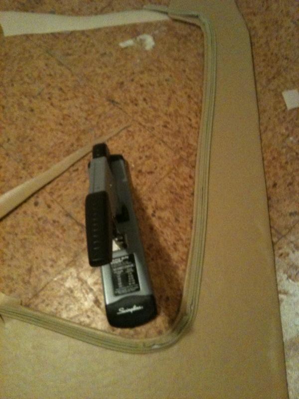 tacking hidem on panel