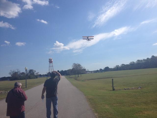 biplane takeoff
